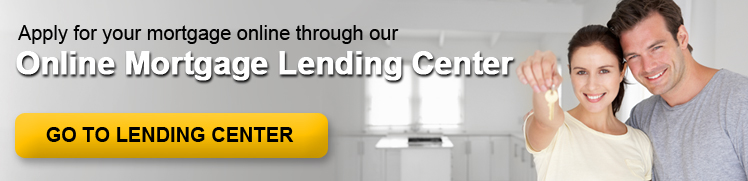 Banner Ad which serves as a link to the WSB Online Mortgage Lending Center.  The ad shows a couple in the kitchen of their new home and the female is holding the house key.